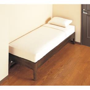 【長さ170幅76cm・重量約33kg】ベッド(マットレス付き)