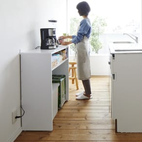 ゴミ箱上を有効活用!キッチンカウンター作業台 幅79cm・奥行34cm
