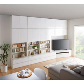コーナーテレビ台壁面収納シリーズ 幅150cm TV台右壁設置用