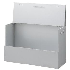 大きく開くガルバ製ゴミ保管庫【スリム】 幅100奥行37cm