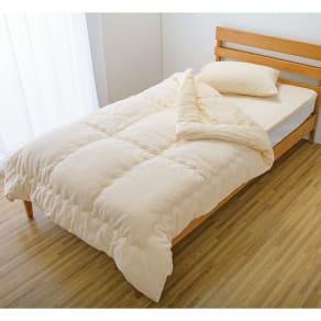掛け布団シングル3点セット(今治製タオルの寝具シリーズ お得な掛け敷きセット(ピローケース付き) 無染色)
