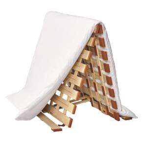 シングル(気になる湿気対策に薄型・軽量桐天然木すのこベッド 2つ折りタイプ)