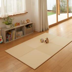 丸洗いできる!すっきりデザインのずれにくい軽量置き畳 ミニサイズ60cm×60cm・3畳用(6枚組)