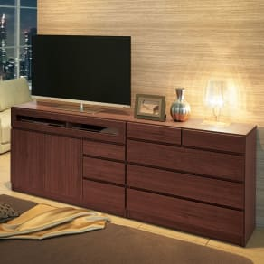 【完成品・国産家具】ベッドルームで大画面シアターシリーズ テレビ台 幅105高さ70cm