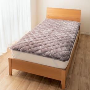 シングル(【テイジン】洗えるあったかボリューム毛布敷きパッド)