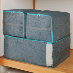 備長炭の力で湿気やニオイを吸収!エアジョブ除湿布団収納袋 押し入れ用