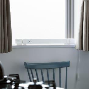 結露と冷気を抑制!「窓際ヒーター」 幅60~90cm伸縮式