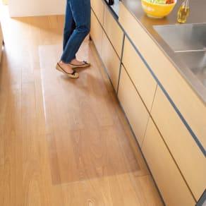 アキレス 透明キッチンフロアマット Neo (奥行80cm) 幅210cm