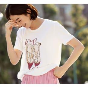 NEURONE/ネウローネ シューズ柄Tシャツ(イタリア製)