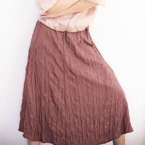 ランダムプリーツ Aラインスカート