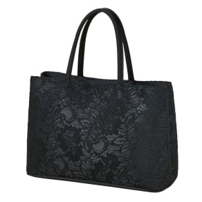 【ブラックフォーマル】 コードレース 二層式バッグ(日本製)