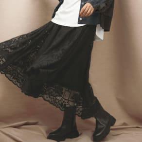 SO SOON/ソースーン 総レース スカート
