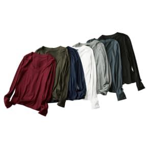 美デコルテ(R) テンセル混 長袖プルオーバー