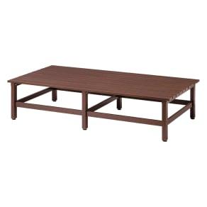 木目調アルミデッキ縁台 単品 デッキ180×90cm