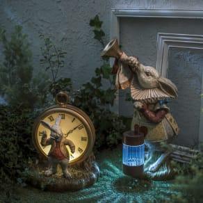 パーティーうさぎ ソーラーオーナメント 時計うさぎ