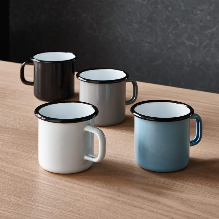 muurla/ムールラ ホーロー エナメル マグカップ 色が選べる2個組