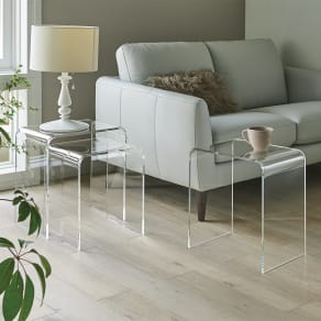 Gel/ジェル アクリルネストテーブル 3台セット