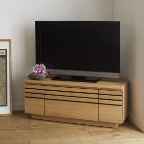 Remonte/ルモンテ 隠しキャスター付きコーナーテレビ台 幅90.5cm