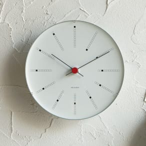 ARNE JACOBSEN/アルネヤコブセン 壁掛け時計 バンカーズ 径21cm