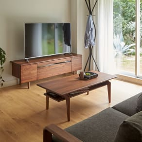 a tempo/アテンポ ウォルナット天然木 リビングテーブル・センターテーブル 幅120cm