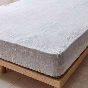 ダブル(French Linen/フレンチリネン カバーリング ベッドシーツ メランジ)