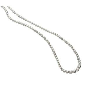 【3.0ctダイヤ】 K18WG ダイヤ フルネックレス