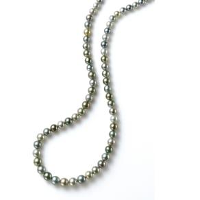 8~11mm黒蝶グレーマルチカラーパール ネックレス
