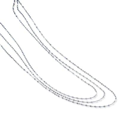 K18 ペタルチェーン 3連ネックレス