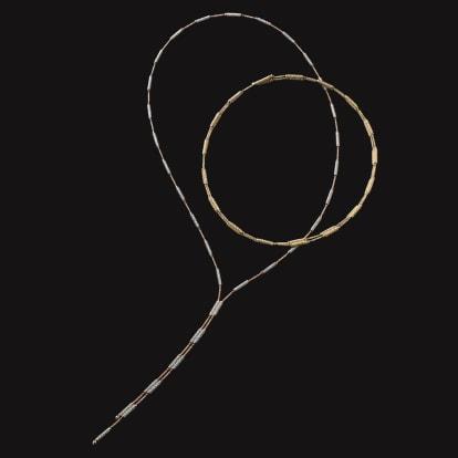 K18 マグネット フレキシブルネックレス兼ブレスレット