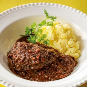 「マルディ  グラ」  牛ホホ肉の赤ワイン煮 (200g×2パック) 【通常お届け】