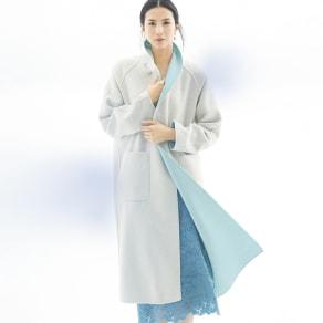 イタリア素材 カシミヤ混 リバーシブル コート