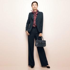 【股下丈68cm】 「NIKKE」 マフダブルジョーゼット スーツセット(ジャケット+パンツ)