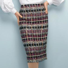 マリア・ケント社 ファンシーツイード スカート