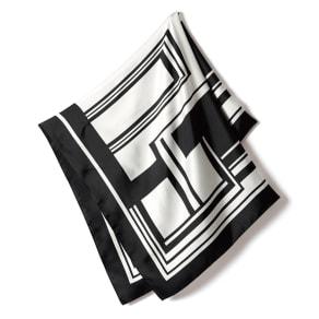 シルク モノトーンプリント スカーフ