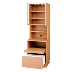 あこがれの書斎スペースを現実にする壁面収納 プリンター収納 幅58cm