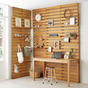 パイン天然木突っ張り式 デコレーション壁面ラック 幅45cm