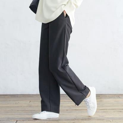 【股下丈68cm】 ダウン入り ストレートパンツ