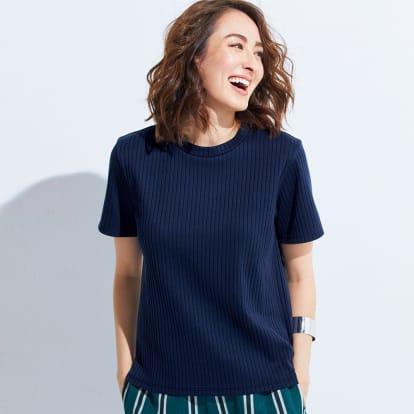 スビンギザコットン ワイドリブ 半袖 Tシャツ