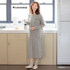 CONVERSE/コンバース 裏シャギーリラックスワンピース