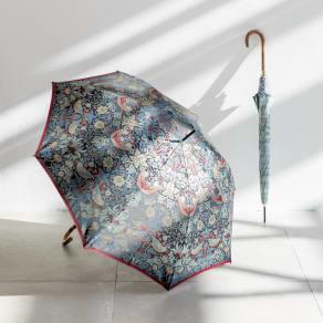 V&A モリス  いちご泥棒 ジャカード生地晴雨兼用傘 長傘