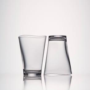 Plakira割れないグラス ゆらぎタンブラー5個組 クリア5個組 Mサイズ
