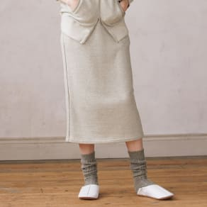 ウォッシャブルウール混 裏毛シリーズ スカート