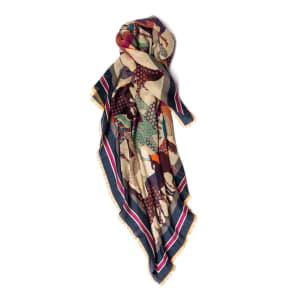 イタリア 「カネパ」社製 プリントスカーフ