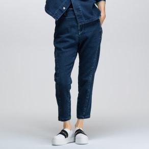 【股下丈55cm】 ジャージーライクデニム パンツ
