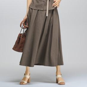 イタリア素材 リネン混 スカート