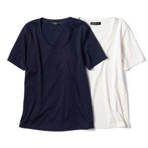 コットンスムース Uネック Tシャツ