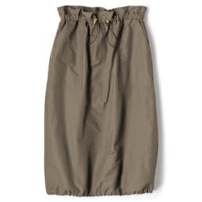 グログラン素材 スピンドル デザイン スカート