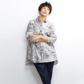 49AV. junko shimada/フォーティーナインアヴェニュー ジュンコシマダ  LIBERTY PRINT/リバティプリント パイピング使い シャツ