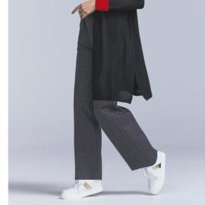 【股下丈74cm】 チョークストライプジャージーパンツ