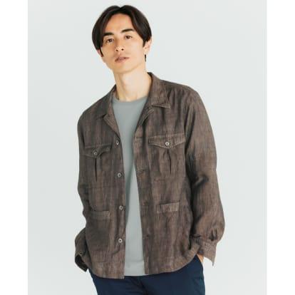 「Albini」 リネン サファリシャツジャケット